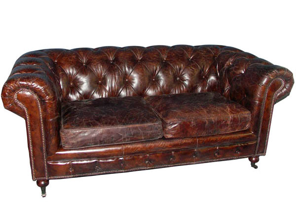 Small Leather Chesterfield Sofa Small Vintage Chesterfield