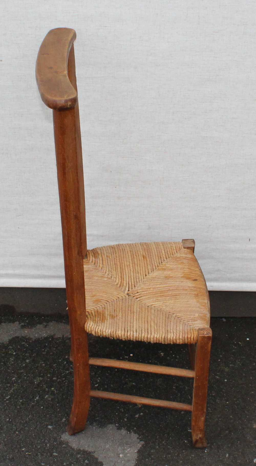 Price: - Antique Chairs & Sofas : 1703-038 - 1940's Beech Prayer Chair With